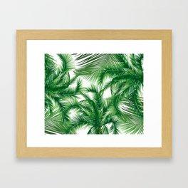 Coconut leaves Framed Art Print