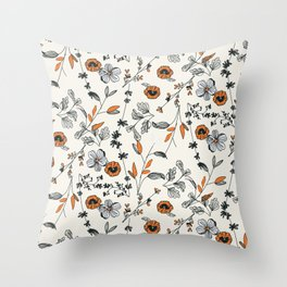 Floral pattern Flowers Throw Pillow