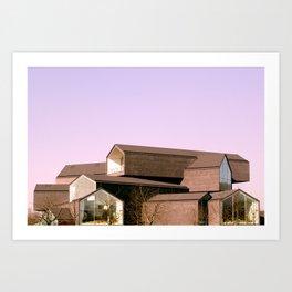 Stack Houses Art Print