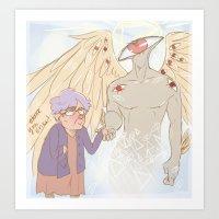 wtnv Art Prints featuring A Faint Buzzing Sound by Nana