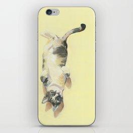 "Frankie - 9"" x 12"" Oil on Panel Cat Portrait iPhone Skin"