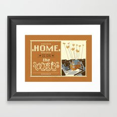 Home on the Web Framed Art Print