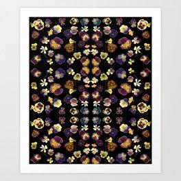 Dark Pansies Art Print