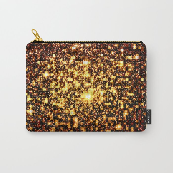 24k Gold Geometric Galaxy Stars Carry-All Pouch