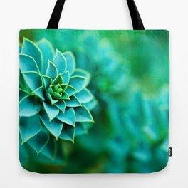 Green Succulent Mandala Tote Bag