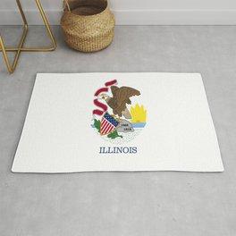 flag illinois,america,usa,midwest,Land of Lincoln,Prairie State,Illinoisan,Chicago,Aurora,Rockford Rug
