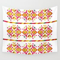 ethnic Wall Tapestries featuring Eastern Ethnic  by VessDSign