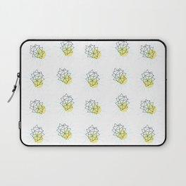 Rock and Sun Asbtract Mid Century Minimalist Style Pattern Laptop Sleeve