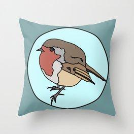 Robin - Robin Redbreast Throw Pillow