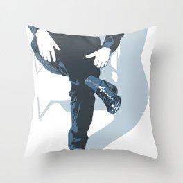 Man In Blue Throw Pillow