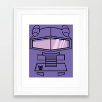 transformers Framed Art Prints featuring Transformers - Shockwave by CaptainLaserBeam