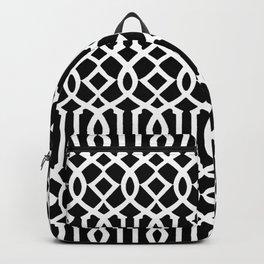 Black & White Imperial Trellis Backpack