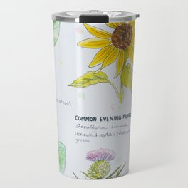 Edible Wildflowers Reference Painting Travel Mug
