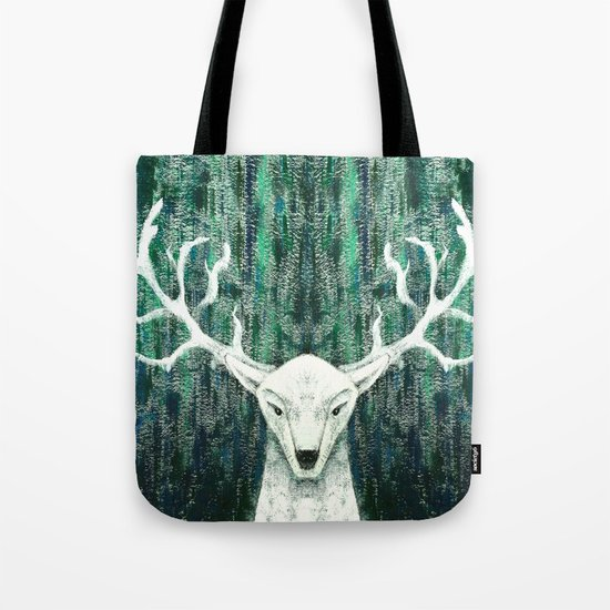 Christmas Stag handpainted Tote Bag