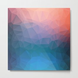 Abstract colorful triangles background Metal Print