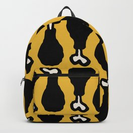 Drumstick Pattern Black and Yellow Backpack