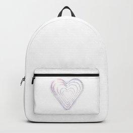 White Snow Heart On A White Background #decor #society6 #buyart Backpack