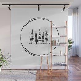 Minimal Nature Design :: 4 Trees Wall Mural