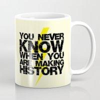 history Mugs featuring HISTORY by Silvio Ledbetter