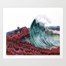 Lettie Hempstock's Ocean Art Print