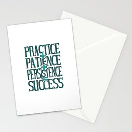 Success, turquoise Stationery Cards