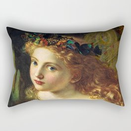 Take the Fair Face of Woman, and.... - Sophie Anderson Rectangular Pillow
