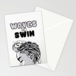 Waves on Swim Stationery Cards