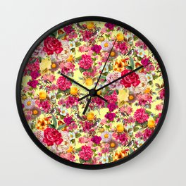 Botanic Pattern Wall Clock