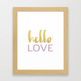 Hello Love 01 Framed Art Print