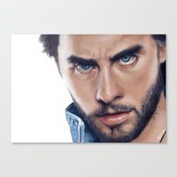 jared leto Canvas Prints featuring Jared Leto by mari_art89