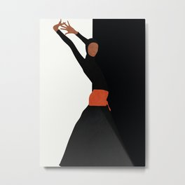 Dancing Model Flow Metal Print
