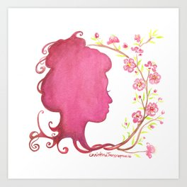 Spring Silhouette Art Print