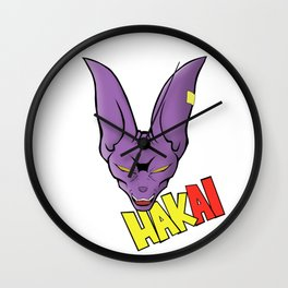 Lord Beerus - Hakai Wall Clock