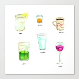 Daily Liquid Consumption Canvas Print