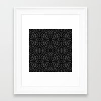 gray pattern Framed Art Prints featuring Slate Gray Black Pattern by 2sweet4words Designs