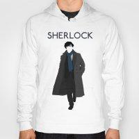 johnlock Hoodies featuring Sherlock Holmes by Amélie Store
