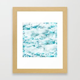 Clouds in the sky Framed Art Print