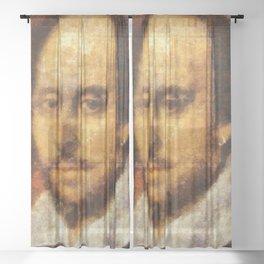 William Shakespeare Sheer Curtain