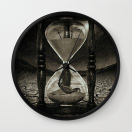 Sands of Time ... Memento Mori - Monochrome Wall Clock