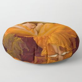 Flaming June, Frederic Leighton Floor Pillow