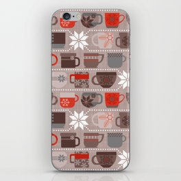 Snow Day Mugs - Chocolate iPhone Skin