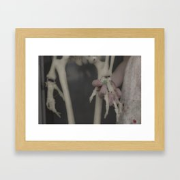 A Bird in the Bush is Worth Two Hands Framed Art Print
