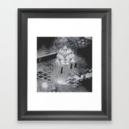 gentle push Framed Art Print