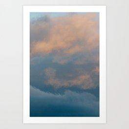Sorbet Clouds Art Print