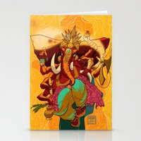 ganesh Stationery Cards featuring Ganesh by marekolani