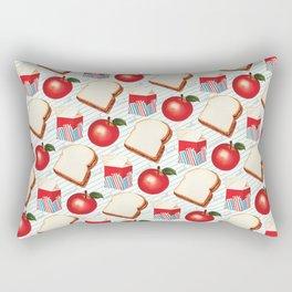 Lunch Pattern - Ruled Rectangular Pillow