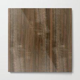 Australian Walnut Wood Metal Print