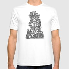 hieroglyphic 10 MEDIUM White Mens Fitted Tee