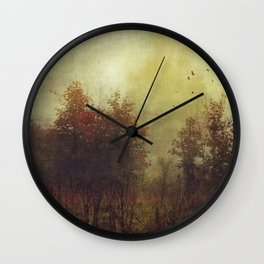 Fall Rust Wall Clock