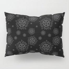 Anti Possession Pattern White Glow Pillow Sham